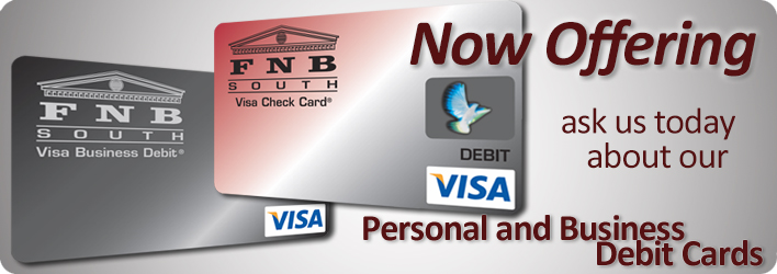 Ask about our debit cards!